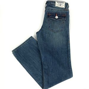 Boys True Religion Jeans Size 14 Blue Embroidered